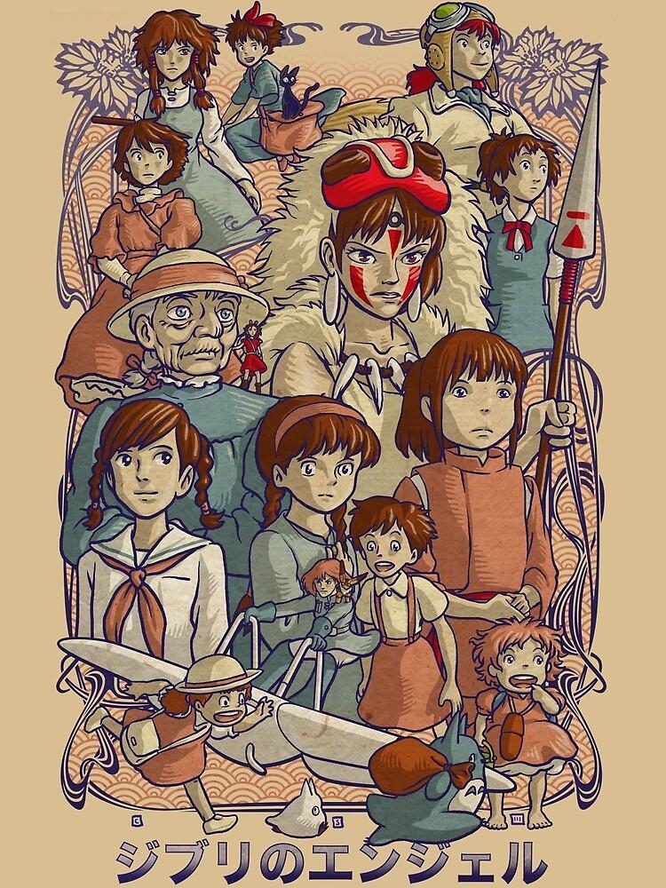 Ghibli's Angels by cs3ink