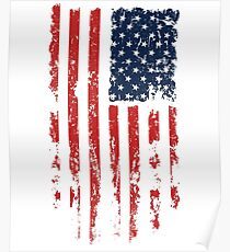 USA Independence Day T-Shirt with Grunge Poster