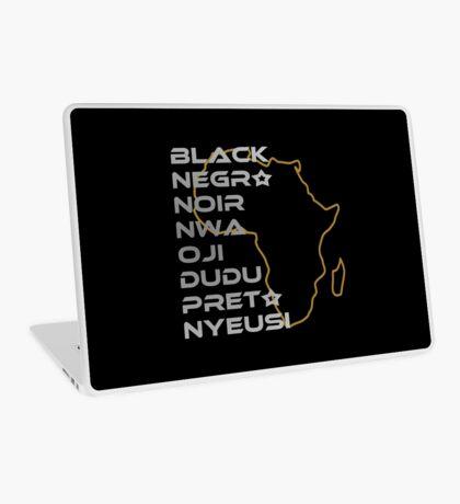 BLACK in Every Language Laptop Skin