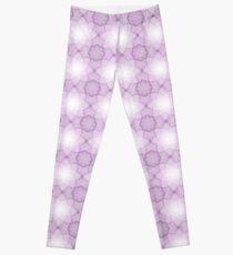 Das abstrakte nahtlose violette Muster mit Polygonen. Eine Zelluläre Spitze. Leggings