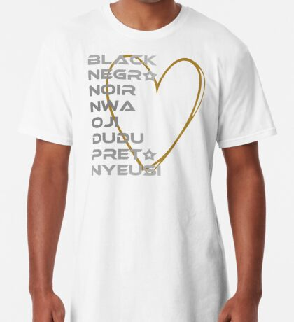 BLACK in Every Language 2.0 Long T-Shirt