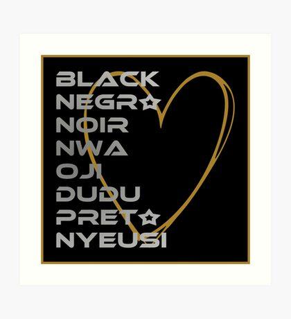 BLACK in Every Language 2.0 Art Print
