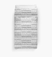 Quotes - Collection of Young Adult Book Quotes Duvet Cover