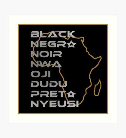 BLACK in Every Language Art Print