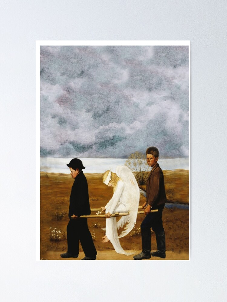 SIMBERG THE WOUNDED ANGEL Painting Canvas art Prints