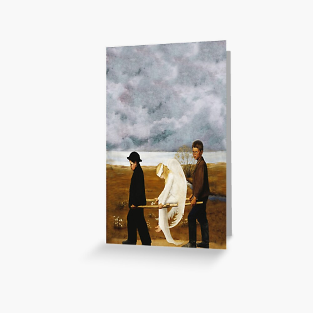 The Wounded Angel by Hugo Simberg Greeting Card