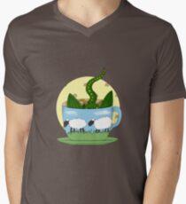 Dragon in a tea cup Men's V-Neck T-Shirt