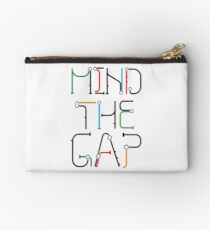 Mind the Gap - London Tube Inspired Font Studio Pouch