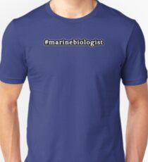 Marine Biologist - Hashtag - Black & White T-Shirt