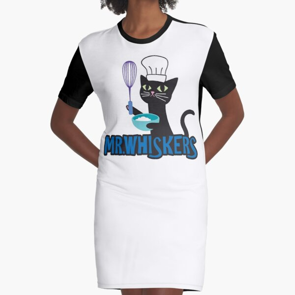 Mr. Whiskers Graphic T-Shirt Dress