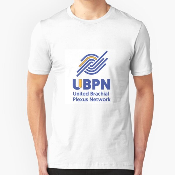 UBPN Blue and Yellow logo Slim Fit T-Shirt