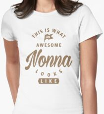 Awesome Nonna Looks Like Women's Fitted T-Shirt
