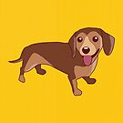 Dachshund Dog by TinyBee