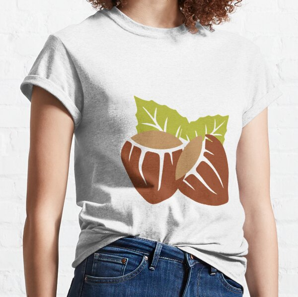 T-Shirt 3D Printed Watercolor Repeated Hazelnuts On The Dark Casual Tees