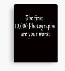 The First 10000-wht Canvas Print