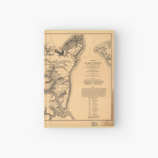 Siege Of Yorktown Virginia Civil War Map April 5 May 3 1862 Hardcover Journal By Allhistory Redbubble