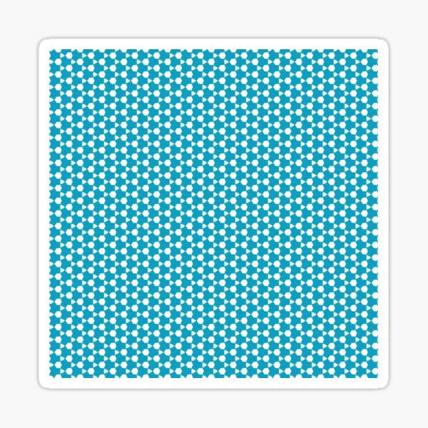 Abstract Turquoise Pattern 1 Sticker