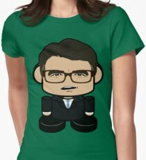 Jimmy Rick Politico'bot Toy Robot 1.0 Womens Fitted T-Shirt