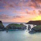 Kynance Cove Sunset   Cornwall by Chris Warham