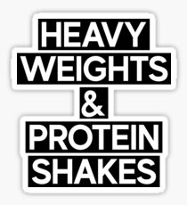 Heavy Weights Protein Shakes + Gym Fitness Crossfit Sticker