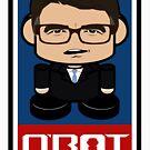 Jimmy Rick Politico'bot Toy Robot 2.0 by Carbon-Fibre Media