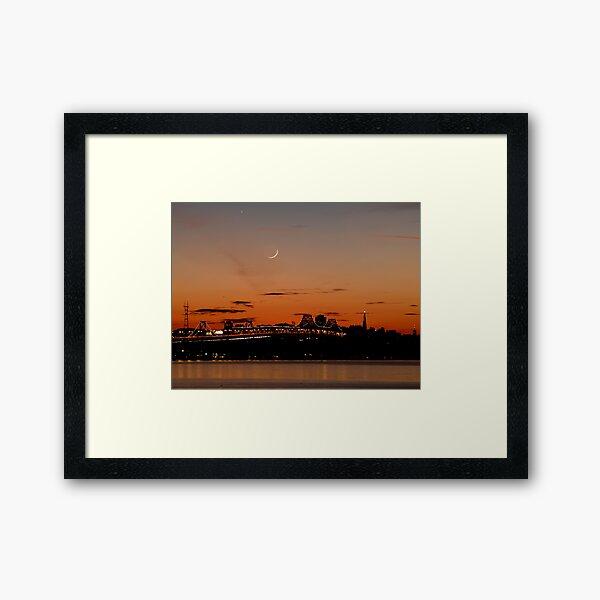 Twilight of the Bay Bridge Framed Art Print