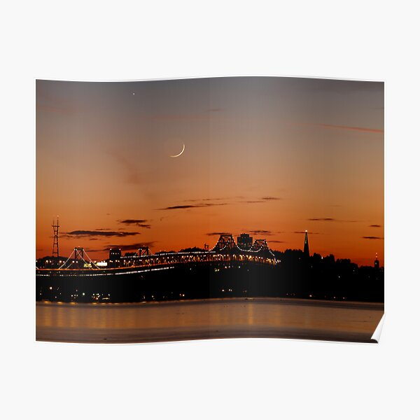 Twilight of the Bay Bridge Poster