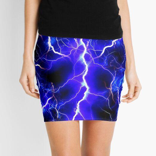 Blue Lightning Mini Skirt