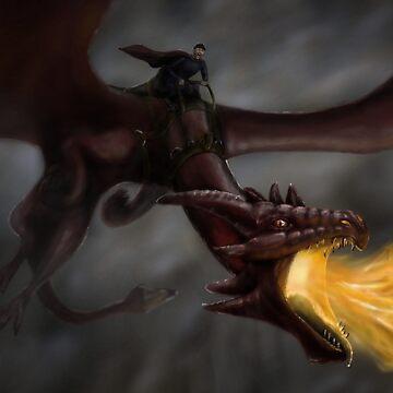 Tony Pulis riding a dragon by iRussJ