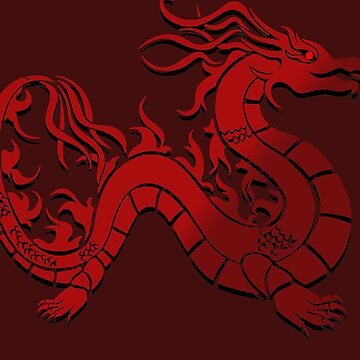 Red Chinese Style Dragon by Si-aidra