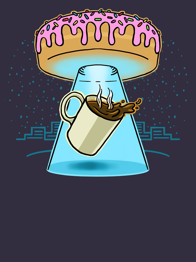 Donut Spaceship Coffee by DOODL