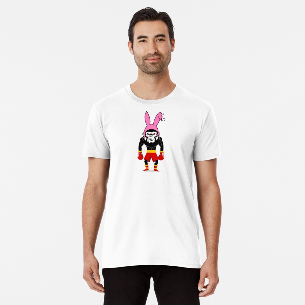 Lucky Punch Monkey Bunny Red Corner Premium T-Shirt