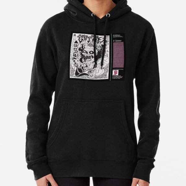 grimes - visions cover art Pullover Hoodie