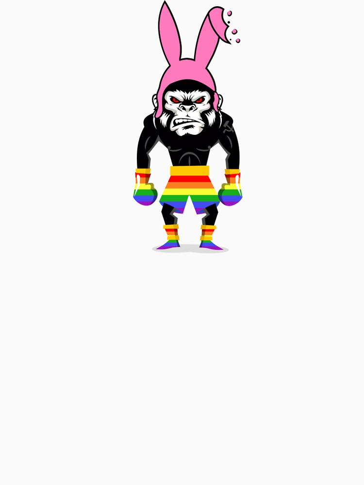 Lucky Punch Monkey Bunny Rainbow by luckypunch