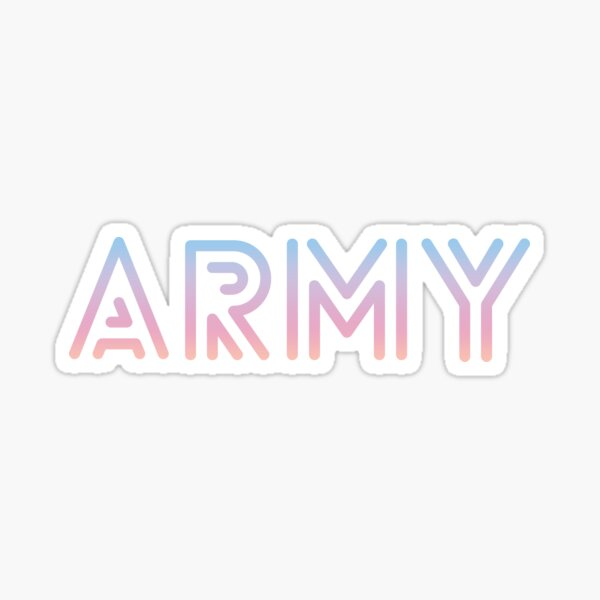 BTS Love Yourself Font ARMY Sticker
