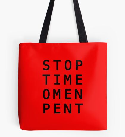 Stop Time Omen Pent – II Tote Bag