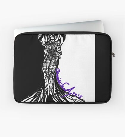Woman Within Laptop Sleeve