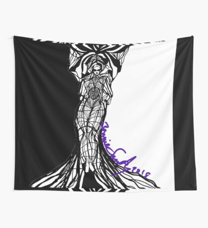 Woman Within Wall Tapestry