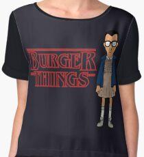 Burger Things Chiffon Top