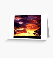 Sunset Highland Valley Greeting Card