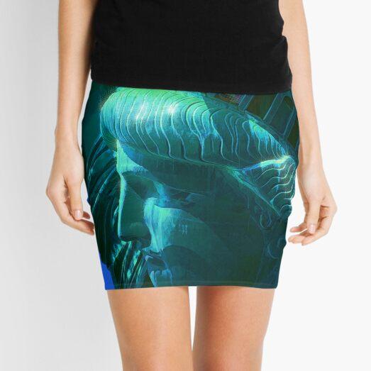 Statue of Liberty Head in The Sun Mini Skirt