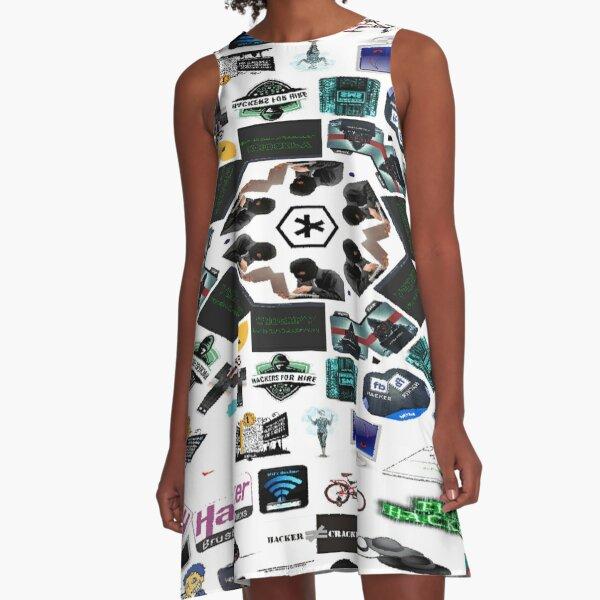 Collage, Visual art form, #Collage #Visual #art #form, Hacker, #Hacker A-Line Dress