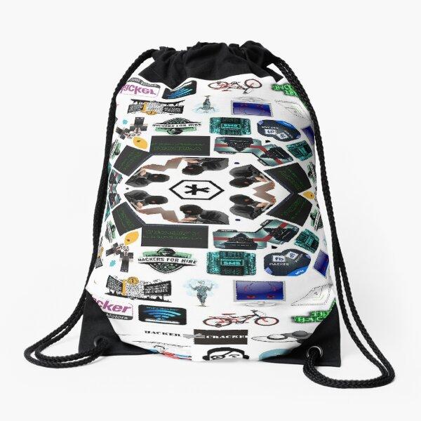 Collage, Visual art form, #Collage #Visual #art #form, Hacker, #Hacker Drawstring Bag