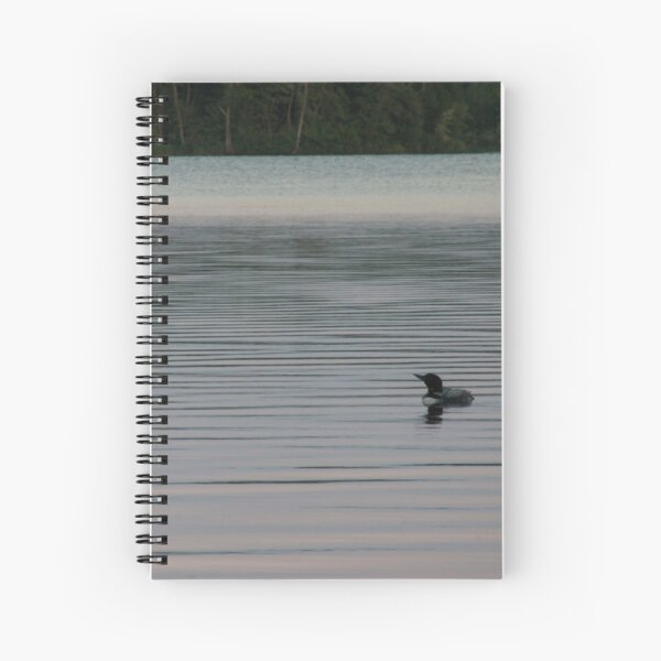 Loon on the Lake Spiral Notebook