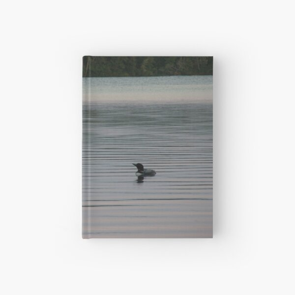 Loon on the Lake Hardcover Journal