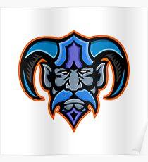 Hades Greek God Head Mascot Poster