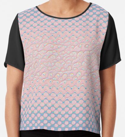 #DeepDream Color Circles Gradient Rose Quartz and Serenity 5x5K v1449298379 Chiffon Top