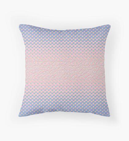 #DeepDream Color Circles Gradient Rose Quartz and Serenity 5x5K v1449298379 Throw Pillow