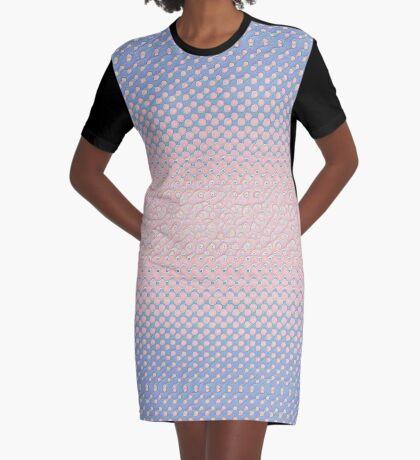 #DeepDream Color Circles Gradient Rose Quartz and Serenity 5x5K v1449298379 Graphic T-Shirt Dress