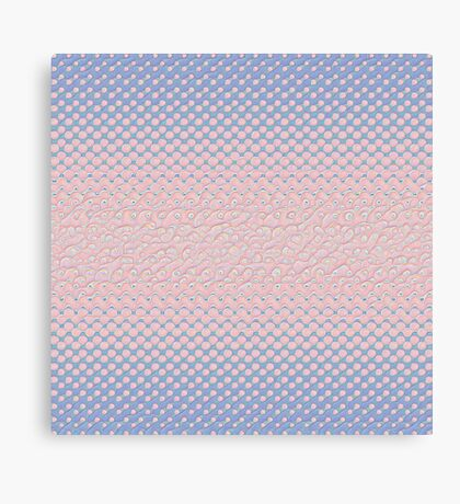 #DeepDream Color Circles Gradient Rose Quartz and Serenity 5x5K v1449298379 Canvas Print